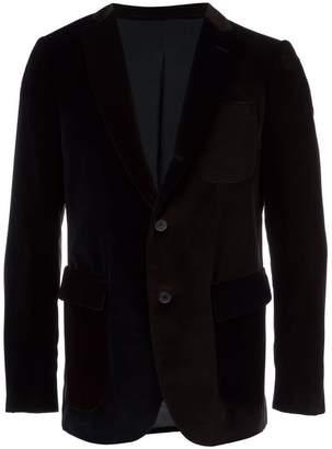 Lardini Wooster + velvet colour block blazer