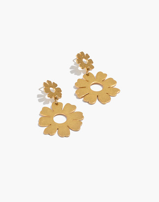 Madewell Flower Statement Earrings