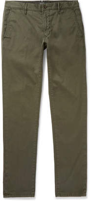 Incotex Slim-fit Stretch-cotton Twill Trousers - Green