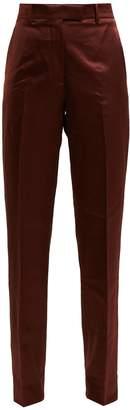 Calvin Klein Side-stripe straight-leg satin trousers