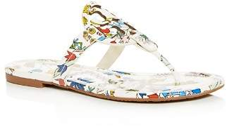 Tory Burch Women's Miller Floral Patent Leather Thong Sandals