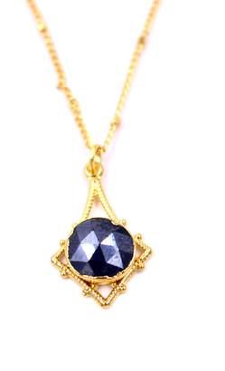 LUX DIVINE Silverite Pendant Necklace
