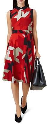 Hobbs London Kelsie Houndstooth Print Dress
