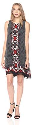 Max Studio Women's Printed Sleeveless Trapeeze Dress