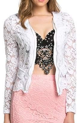 Oh Yes Fashion White Lace Jacket