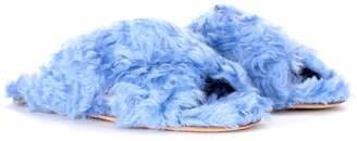 Miu Miu Exclusive to mytheresa.com faux-fur slides