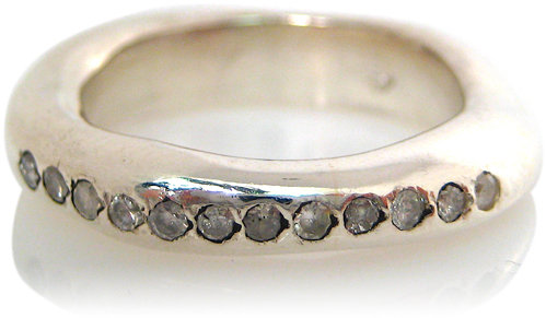 Rosa Maria Jewelry Silver and Diamond Ring
