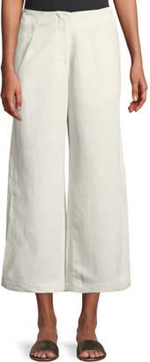 Zero Maria Cornejo Tin Lightweight Linen-Blend Wide-Leg Pants