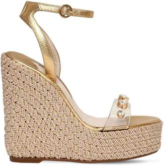 Sophia Webster 140mm Dina Gem Pvc & Metallic Wedges
