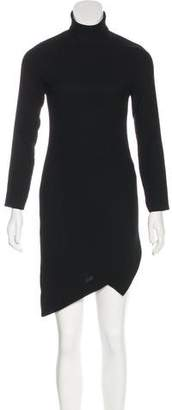 Gianni Versace Asymmetrical Long Sleeve Dress