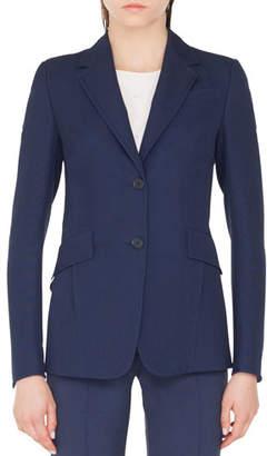 Akris Punto Punto Stretch Blazer Jacket with Soft Back