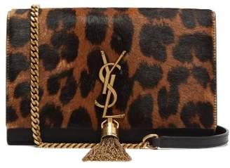 b9c07c070e Saint Laurent Kate Leopard Print Leather Cross Body Bag - Womens - Leopard
