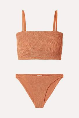 Hunza G Gigi Seersucker Bikini - Brown