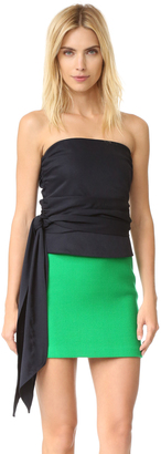 Milly Strapless Blouse $350 thestylecure.com