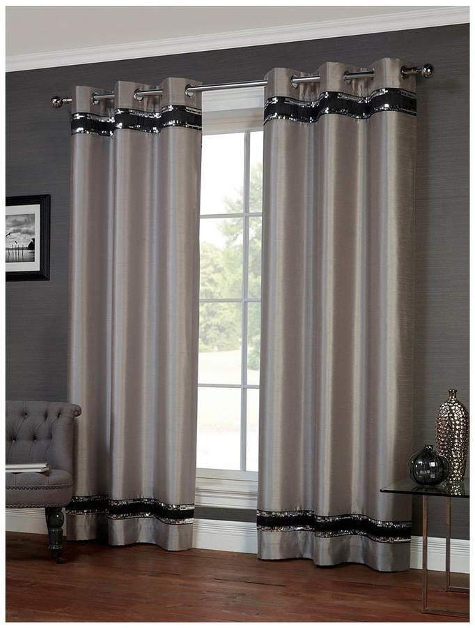 Savoy Lined Eyelet Curtains