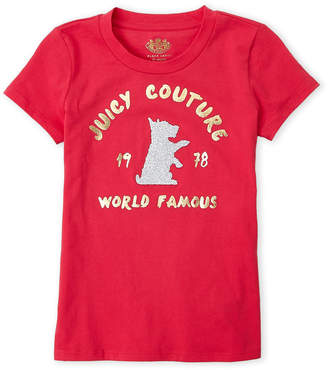 Juicy Couture Girls 7-16) Logo Glitter Dog Tee