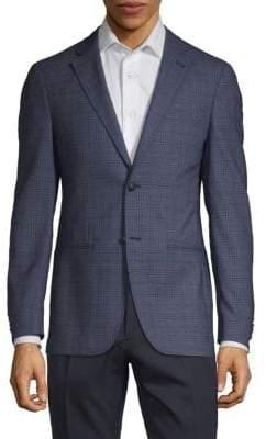 John Varvatos Plaid Wool Sportcoat