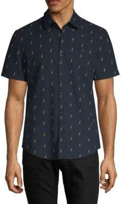 Original Penguin Lightning-Print Short-Sleeve Shirt