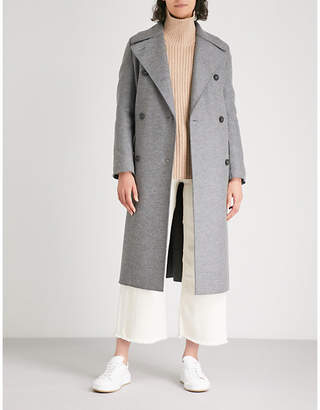 Harris Wharf London Longline wool military coat