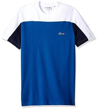 Lacoste Men's Short Sleeve Color Block Life Double Face Reg Fit T-Shirt