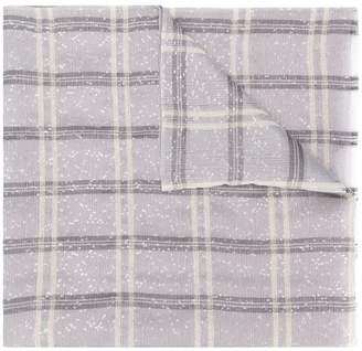 Emporio Armani check print scarf