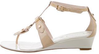 CelineCéline Patent Leather Wedge Sandals