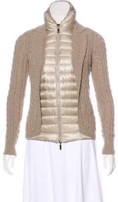 Moncler Wool-Trim Down Jacket