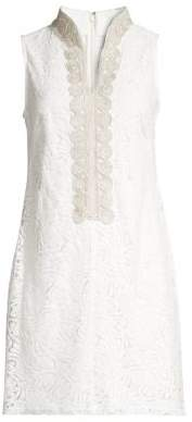 Eliza J Petite Embroidered Shirt Dress