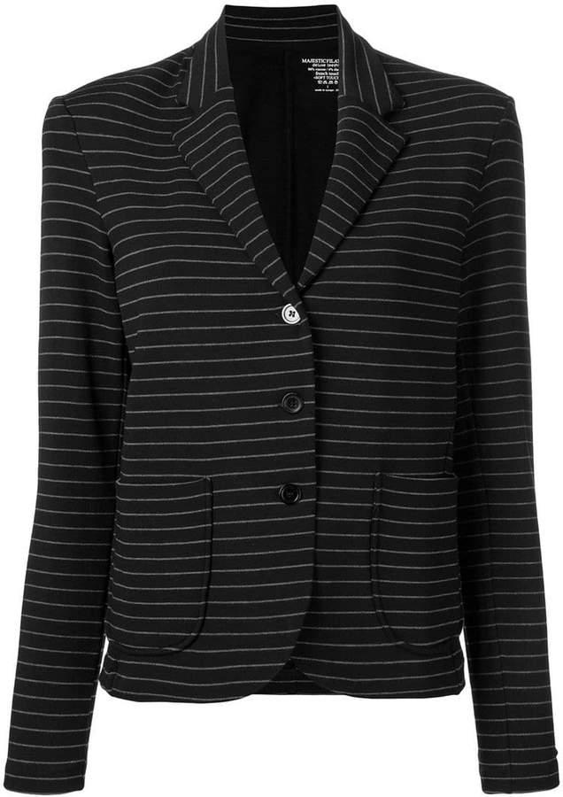 striped single breasted blazer