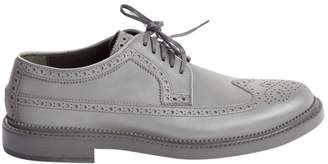 Cole Haan Silver Leather Lace ups