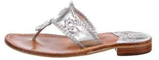 Jack Rogers Metallic Thong Sandals