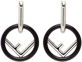 Fendi Black Large F Is Hoop Earrings