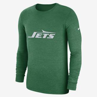 Nike NFL Jets) Men's Tri-Blend Long Sleeve T-Shirt