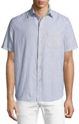 Rag & Bone Men's Striped Short-Sleeve Beach Shirt