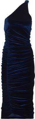 Alix Celeste Ruched Velvet Dress