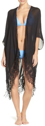 Women's Hinge Lace Trim Ruana $35 thestylecure.com