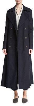 THE ROW Frenton Double-Weave Trenchcoat, Navy $2,990 thestylecure.com