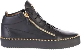 Giuseppe Zanotti Black Zipped Sneakers