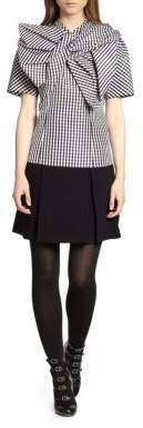 Kick-Pleated Crepe Skirt