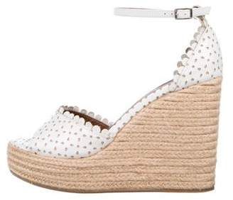 Tabitha Simmons Leather Laser Cut Espadrilles