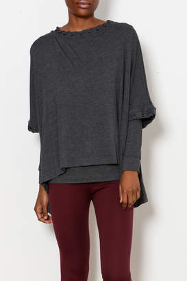 Capote Whip Stitch Double Layer Top