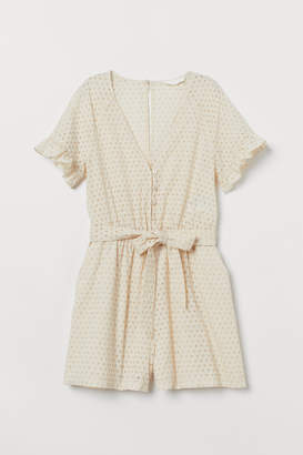 H&M Eyelet Embroidered Jumpsuit