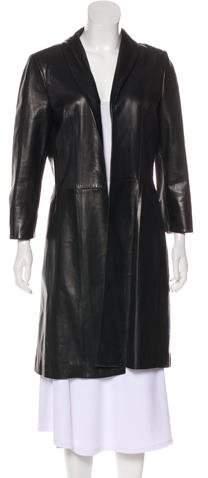 Pauw Leather Knee-Length Coat