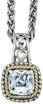 Couture FINE JEWELRY Shey Genuine Blue Topaz Sterling Silver 14k Gold Pendant Necklace