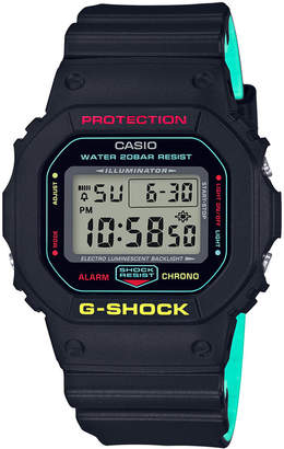 Casio G-Shock Men's Digital Black Resin Strap Watch 42.6mm