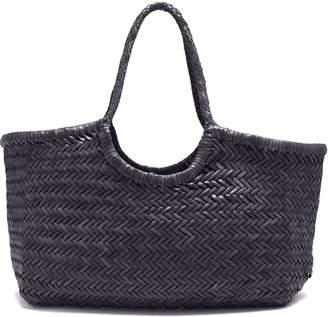 Dragon Optical DIFFUSION Nantucket woven-leather basket bag