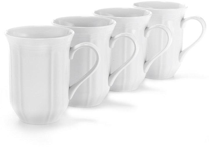 Mikasa Dinnerware, Set of 4 Antique White Cappuccino Mugs