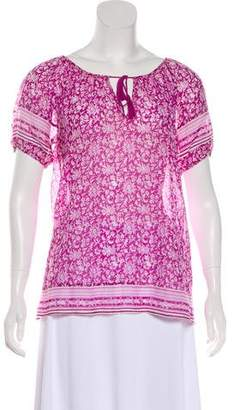 Joie Short Sleeve Peasant Top