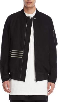 Rick Owens Black Matte Bomber Jacket