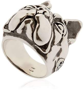 Manuel Bozzi Bulldog Sterling Silver Ring